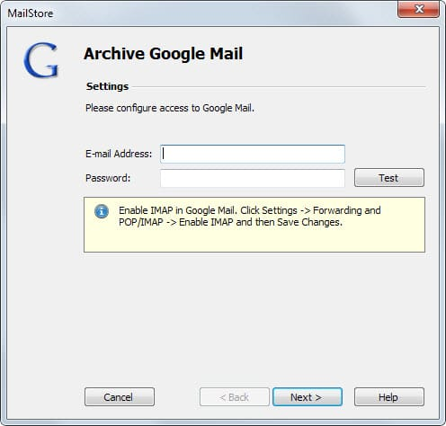 archive google mail