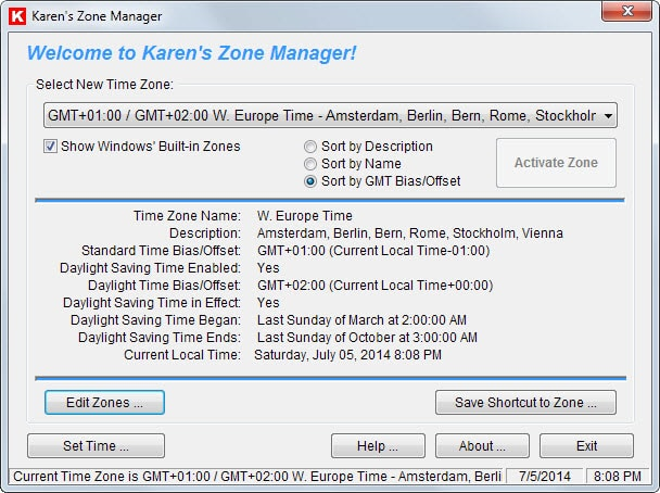 time zone manager