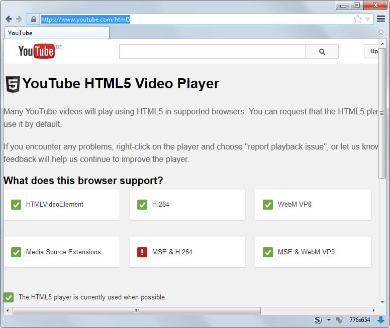youtube enforce html5