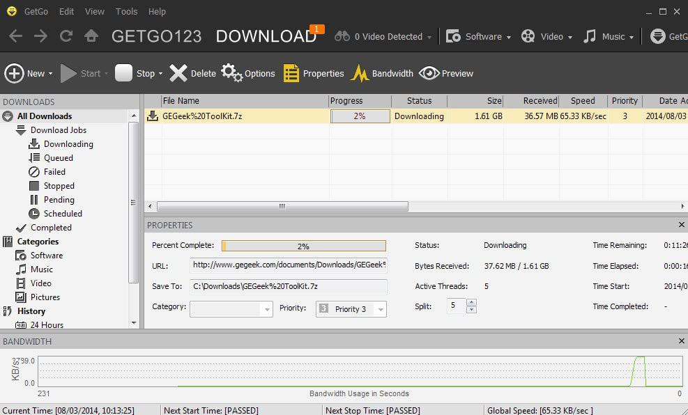 getgo download manager Application