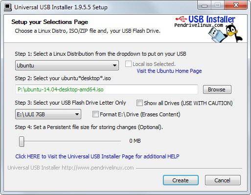 install linux usb