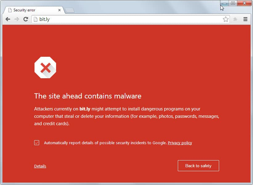 chrome bitly malware
