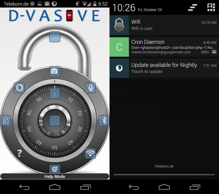 d-vasive android