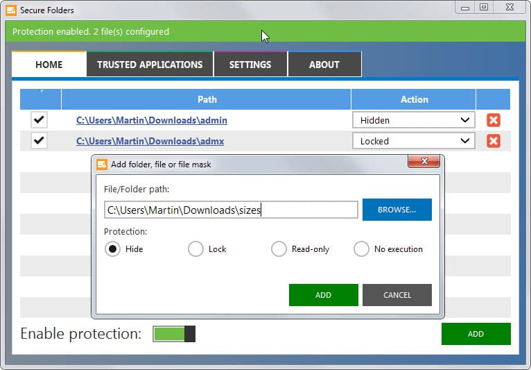 folder security software for windows xp free