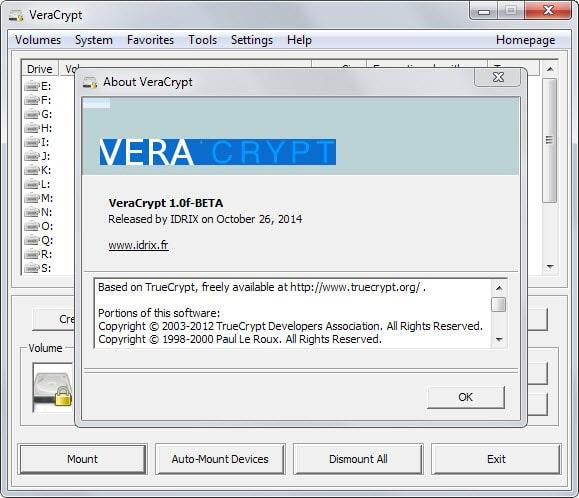 VeraCrypt 1.0e