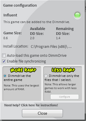 game options steam ram drive