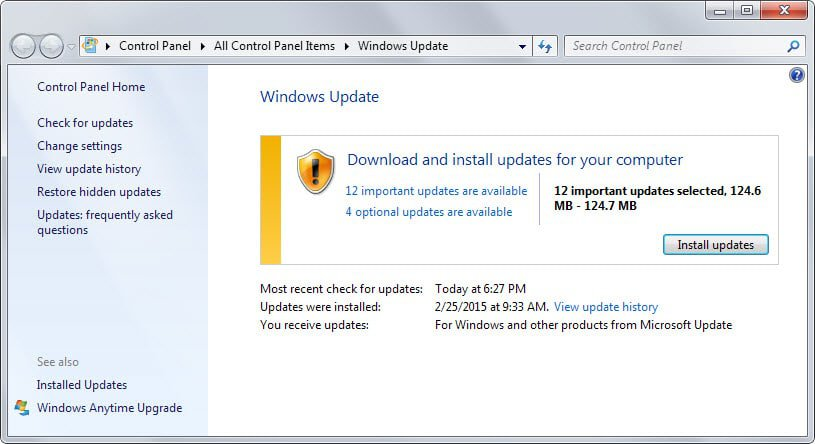 windows updates march 2015