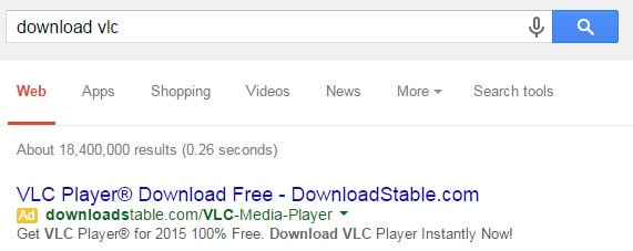 download search result