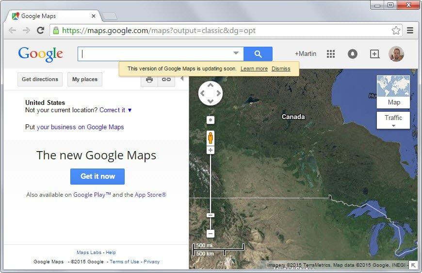 google maps classic