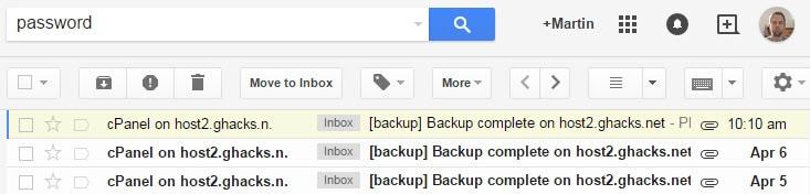 sensitive email information