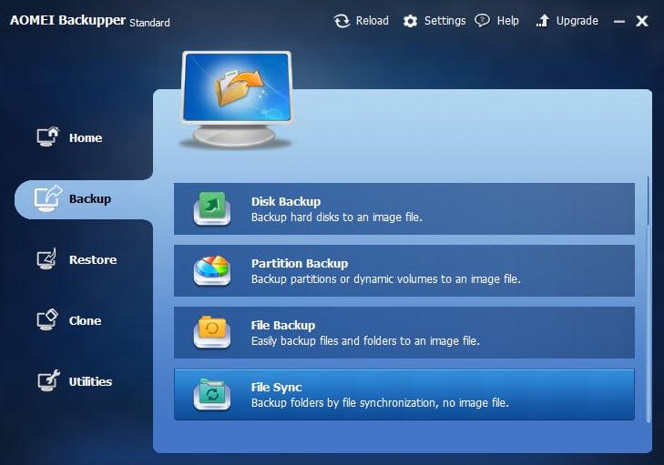 aomei backupper file sync