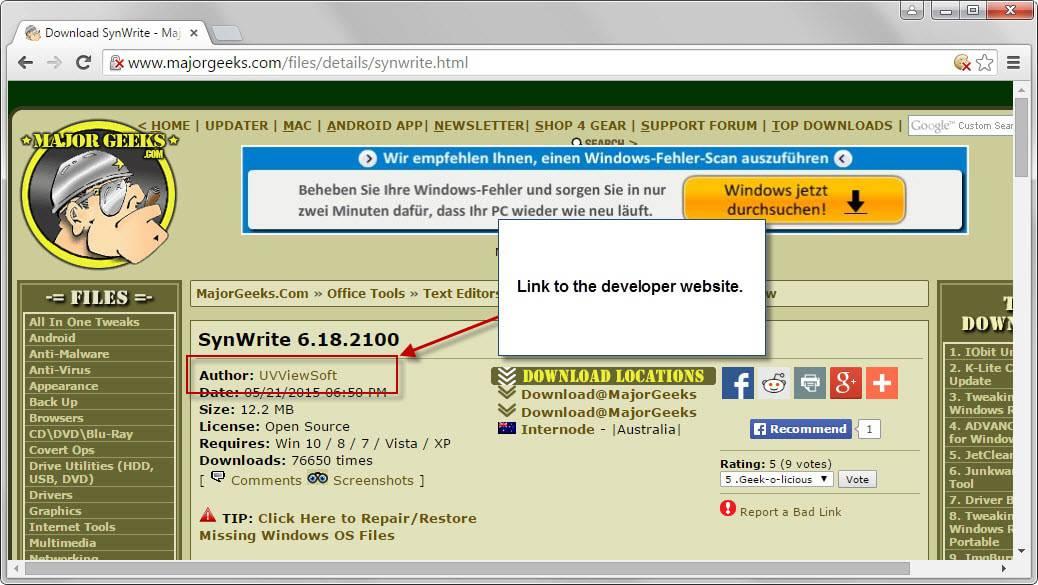 developer site