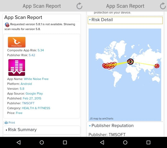 [APPLICATION ANDROID  - PrivacyHawk] Analyse des risques liés aux applications (root NON requis) App-scan-report