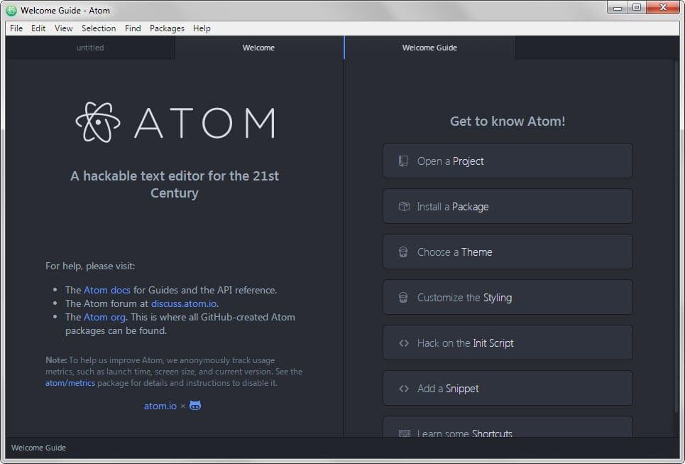 atom io welcome