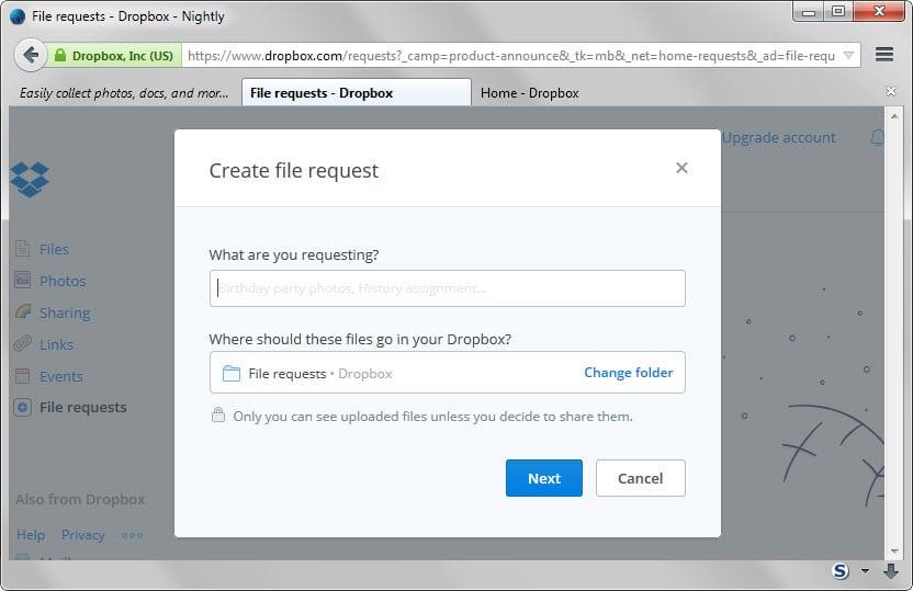 Broker selection option request form