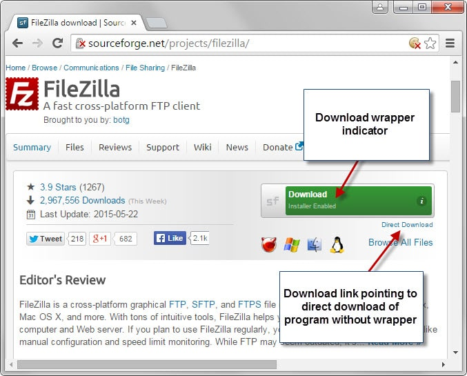 sourceforge download wrapper