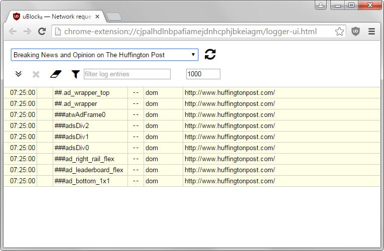 Another interesting feature provided by the Logger is quick access to ...