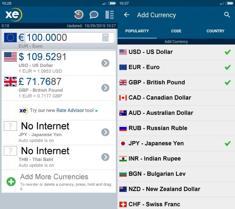 Online currencies
