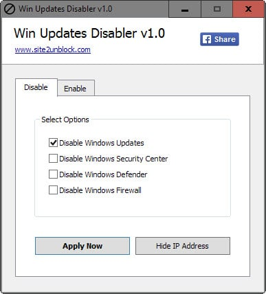 disable windows updates