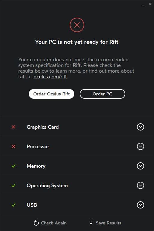 oculus rift compatibility