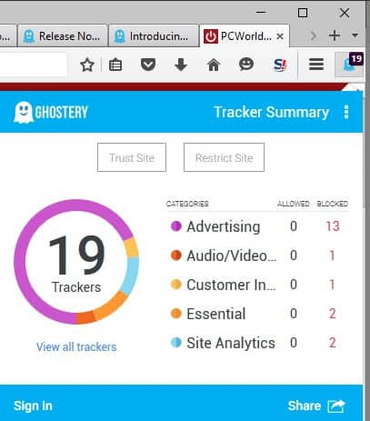 ghostery 6.0