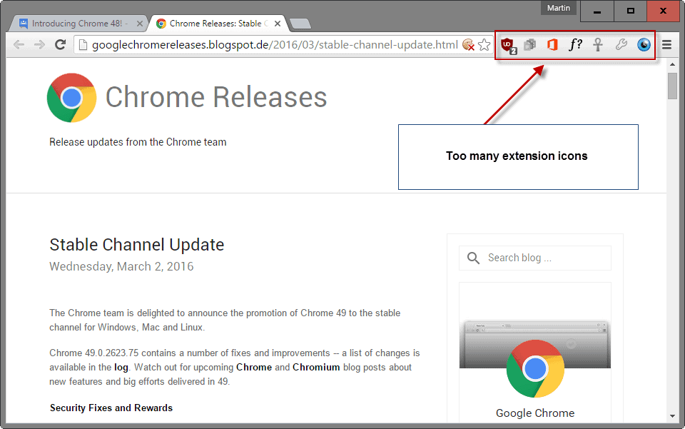 How to hide extension icons in Google Chrome's toolbar ...