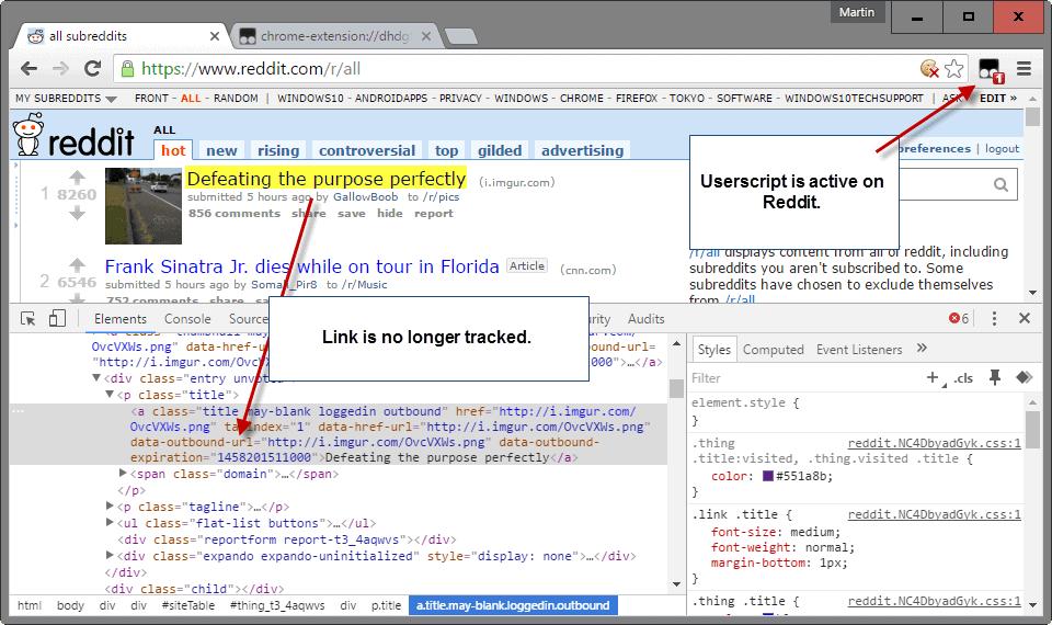 reddit no tracking