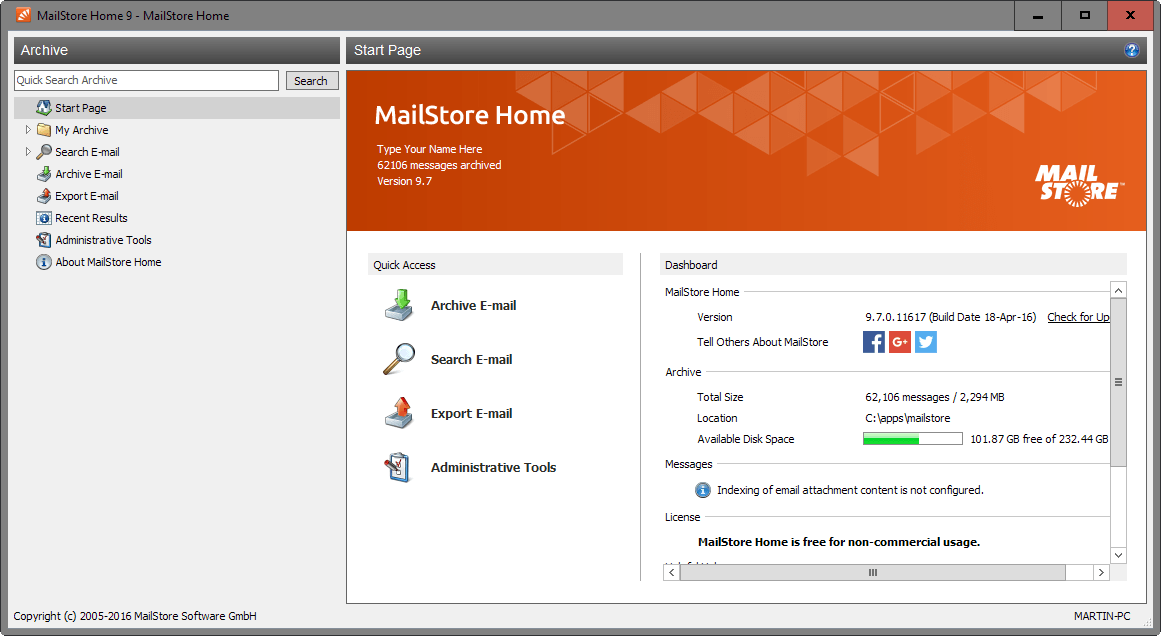 mailstore home 9.7