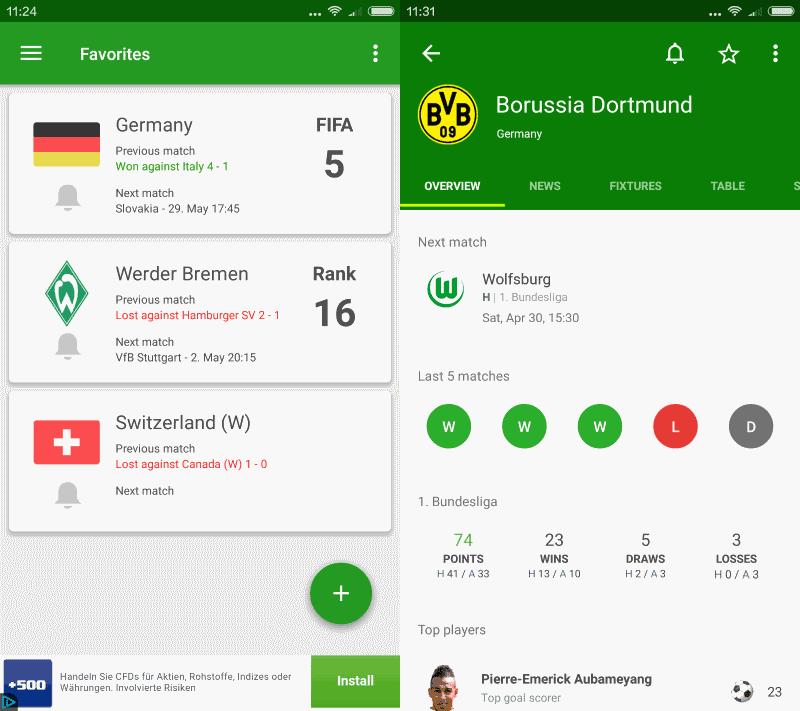 app scores