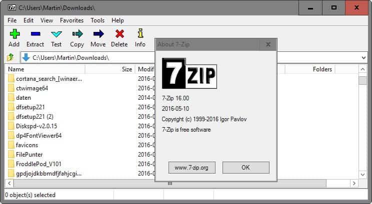 7-zip 16,0