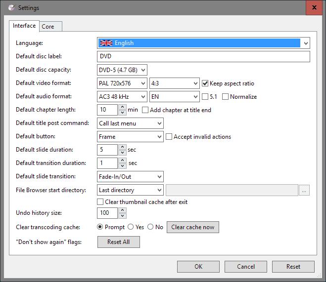dvdstyler 3.0 settings