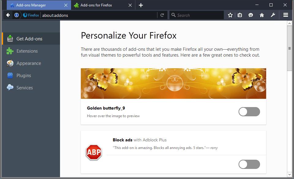 firefox get add-ons