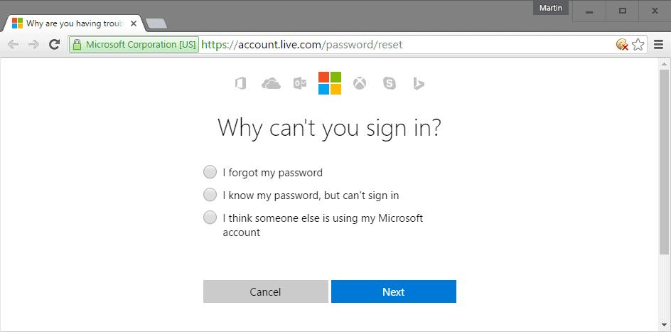 i forgot my password