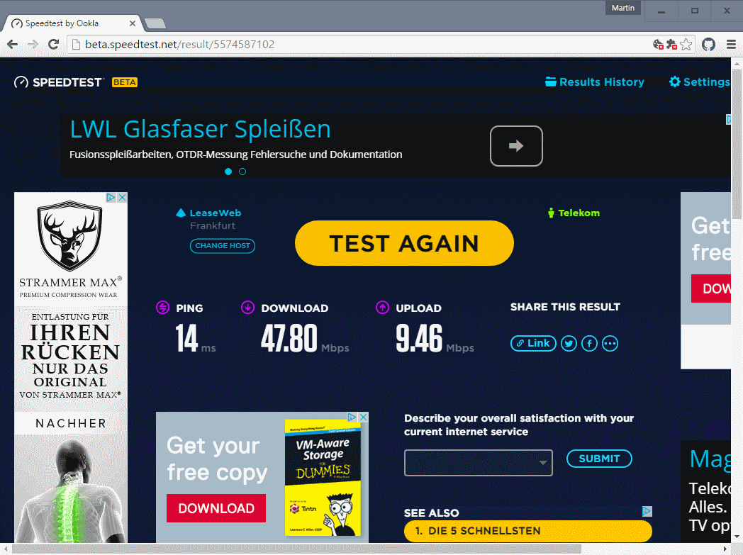 how to run a speedtest for internet connection