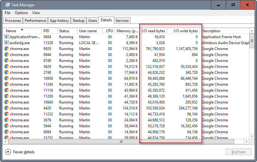 how to clear process on task manager
