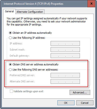 How to change DNS server address in Windows 10 and Windows 8?