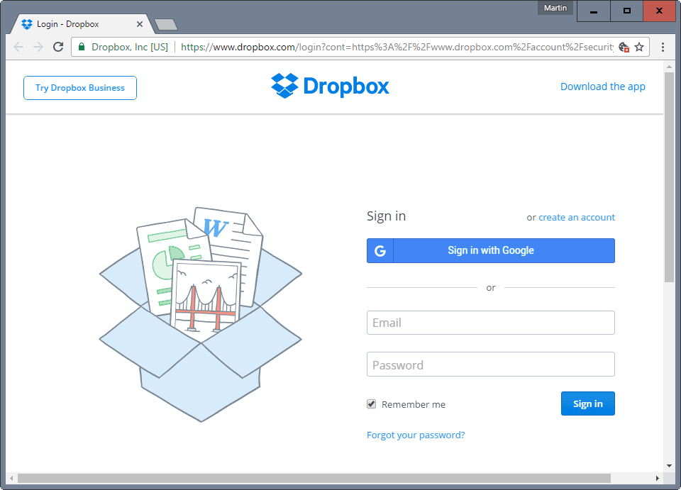 Dropbox mit google anmelden xcomputer Google sites sign in