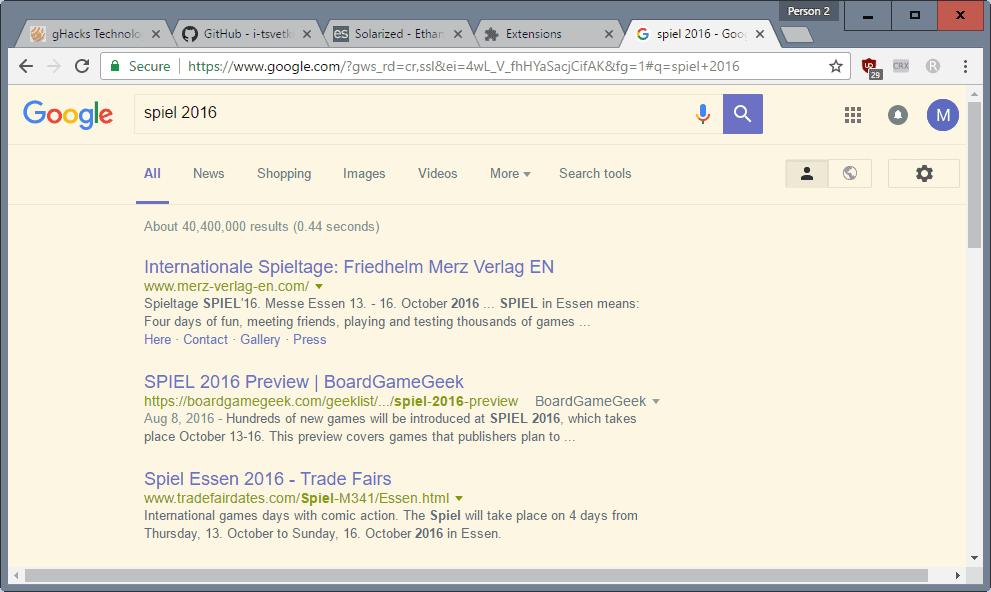 Chrome: verwenden Sie unterschiedliche Farben für websites ...