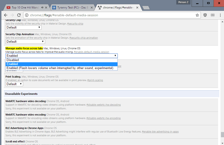 chrome manage audio focus