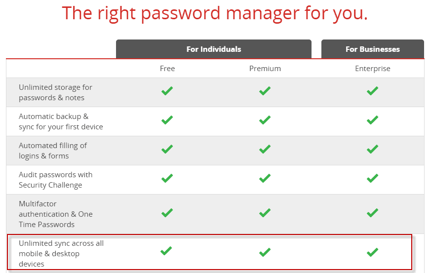 LastPass Now Syncs Passwords Across Devices For Free