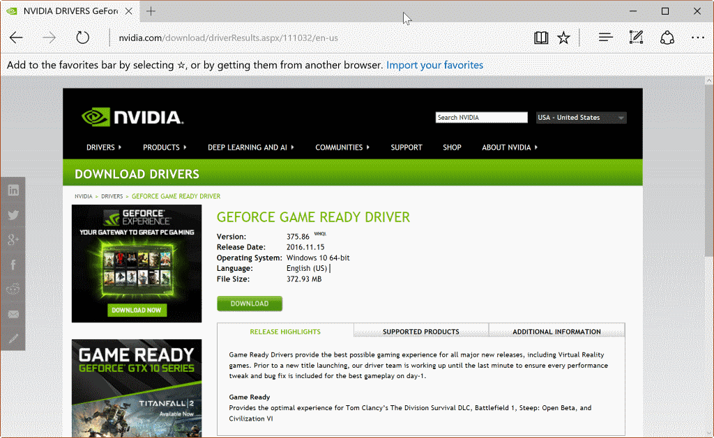 Downloading Old Video Driver Nvidia