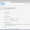 opera 43 developer