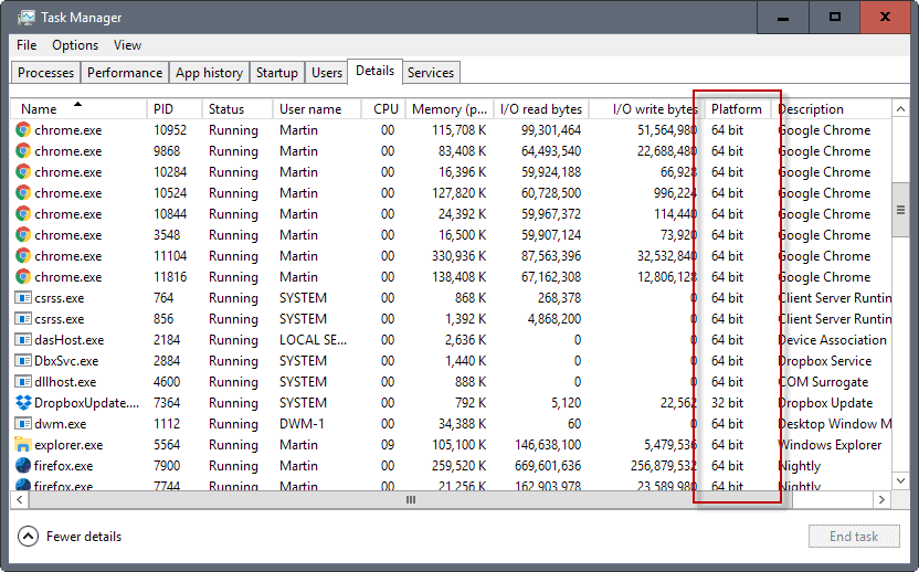 windows 32-bit 64-bit