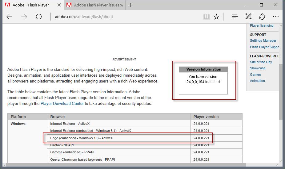 edge flash player vulnerability