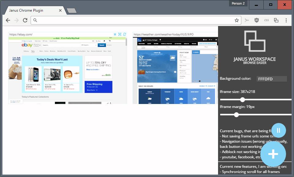 janus workspace options