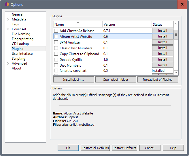 picard 1.4 options