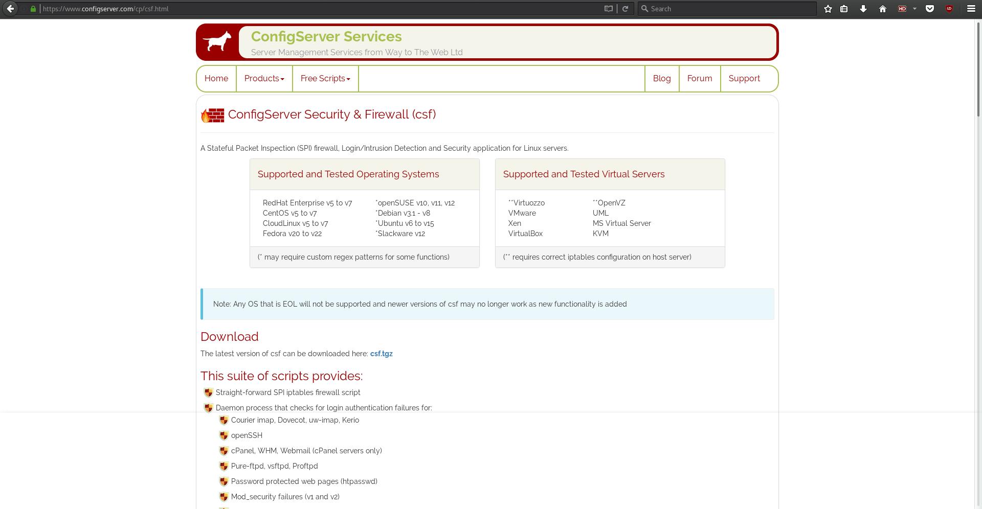 CSF Homepage