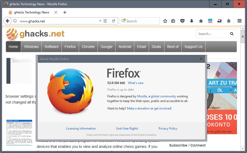 firefox 52.0