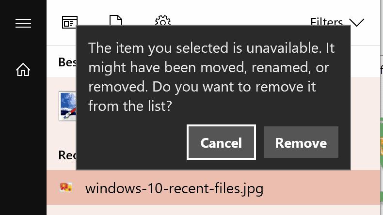 item unavailable