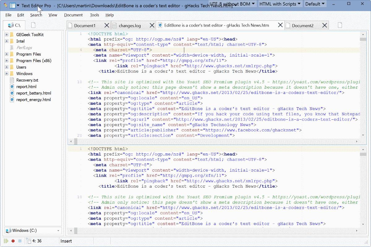 text editor pro classic